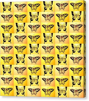 Yellow Fantasy Canvas Print by Cathy Jacobs