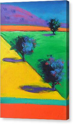Yellow Field Canvas Print by Paul Powis