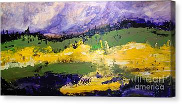 Yellow Fields Canvas Print by Maria Curcic