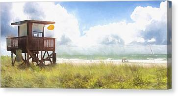 Yellow Flag, Santa Maria Island, Florida Canvas Print