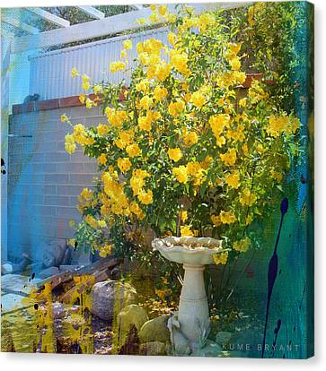 Yellow Flower Garden Canvas Print