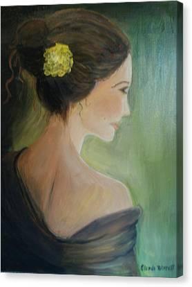 Yellow Flower Canvas Print by Glenda Barrett