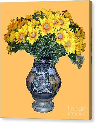 Canvas Print - Yellow Flowers In Vase by Francesca Mackenney