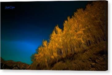 Yellow Forest - Da Canvas Print by Leonardo Digenio