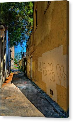 City Streets Canvas Print - Yellow Hearts by Marvin Spates