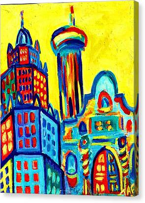 Yellow Icons Canvas Print by Tracey Ashenfelter