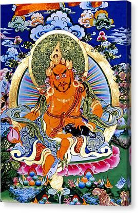 Yellow Jambhala 14 Canvas Print by Lanjee Chee