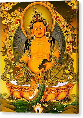 Tibetan Buddhism Canvas Print - Yellow Jambhala 3 by Lanjee Chee