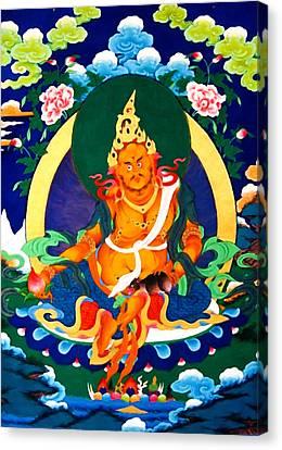 Yellow Jambhala 32 Canvas Print by Lanjee Chee