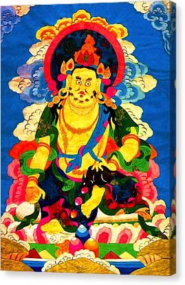 Yellow Jambhala 4 Canvas Print
