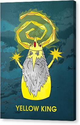 Yellow King True Detective Adventure Time Canvas Print