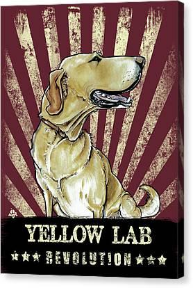 Canvas Print - Yellow Lab Revolution by John LaFree