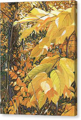 Canvas Print - Yellow Leaves by Nadi Spencer