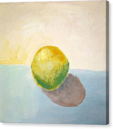 Yellow Lemon Still Life Canvas Print by Michelle Calkins
