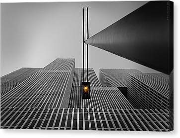 Yellow Light Canvas Print by Wim Schuurmans