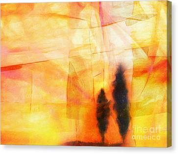 Yellow Lightscape Canvas Print by Lutz Baar