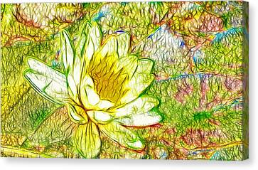 Botanical Canvas Print - Yellow Lotus Blooming In The Pond by Lanjee Chee