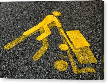Symbolically Canvas Print - Yellow Man by Germano Poli