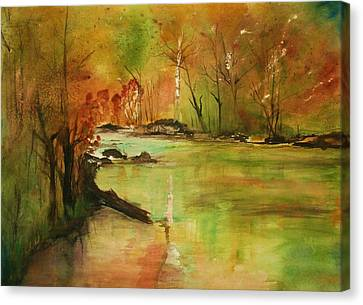 Yellow Medicine River Canvas Print by Julie Lueders