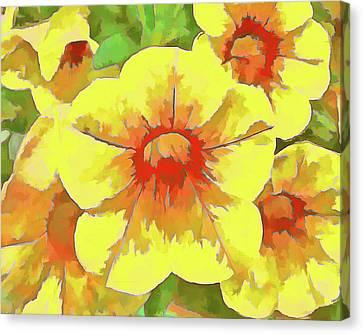 Yellow Million Bells Canvas Print