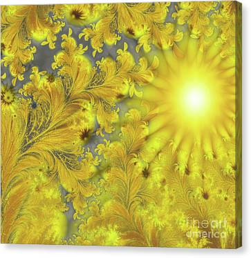 Yellow Morning Canvas Print by Mindy Sommers