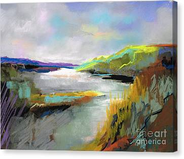 Yellow Mountain Canvas Print by Frances Marino