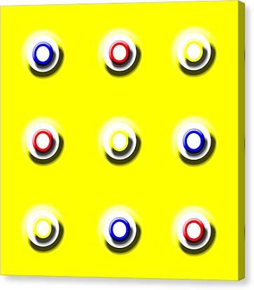 Yellow Nine Squared Canvas Print