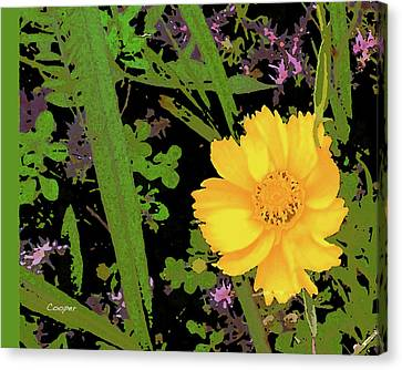 Yellow One Canvas Print