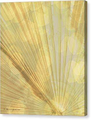 Yellow Palm Frond Lh Canvas Print