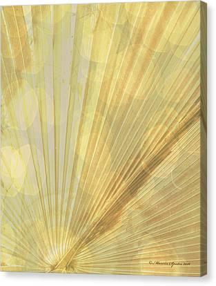 Yellow Palm Frond Rh Canvas Print
