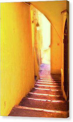 Canvas Print featuring the photograph Yellow Passage  by Harry Spitz