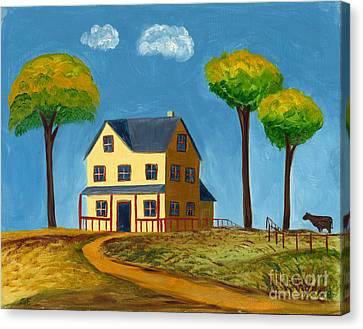 Yellow Prairie House Canvas Print