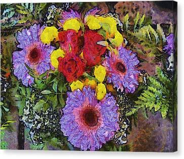 Yellow Purple Canvas Print by Dennis Wickerink