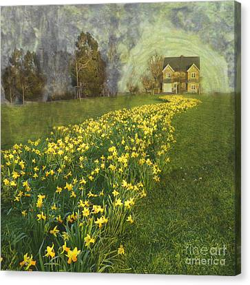 Canvas Print featuring the photograph Yellow River To My Door by LemonArt Photography