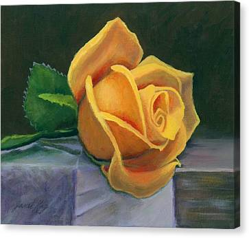 Yellow Rose Canvas Print by Janet King