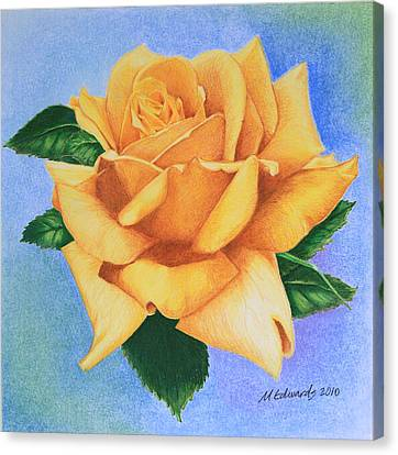Yellow Rose Canvas Print by Marna Edwards Flavell