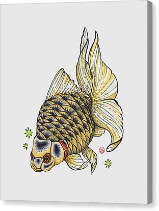Yellow Ryukin Canvas Print by Shih Chang Yang