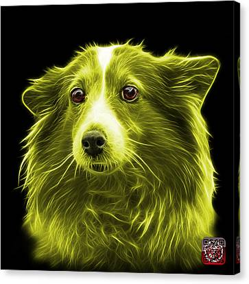 Yellow Shetland Sheepdog Dog Art 9973 - Bb Canvas Print