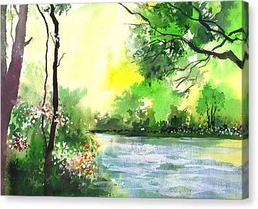 Yellow Sky Canvas Print by Anil Nene
