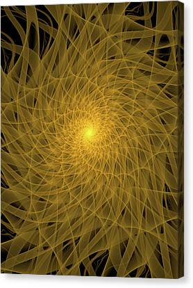 Yellow Spiral Canvas Print