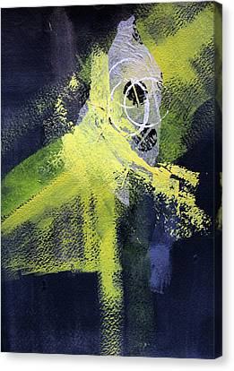 Canvas Print featuring the painting Yellow Splash by Nancy Merkle