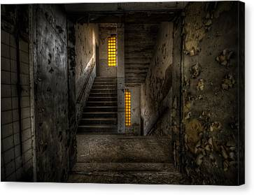 Yellow Stairs Canvas Print