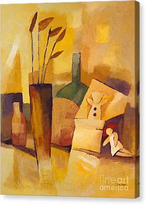 Yellow Still Life Canvas Print by Lutz Baar
