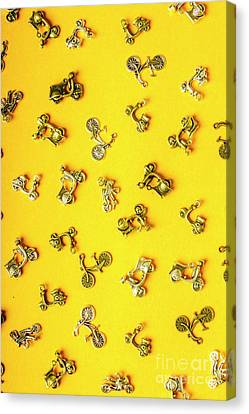 Yellow Summer Transport Canvas Print