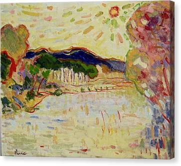 Beynac Et Cazenac , Dordogne , Yellow Sunshine  Canvas Print by Pierre Van Dijk