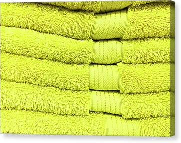 Yellow Towels Canvas Print by Tom Gowanlock