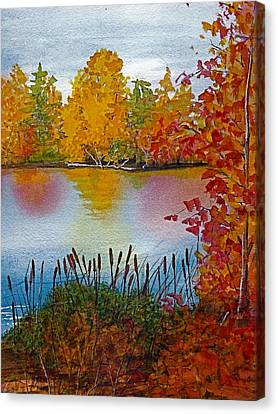 Yellow Tree At Institute Park Canvas Print by Lynn Babineau