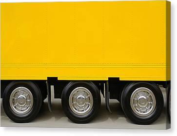 Yellow Truck Canvas Print by Carlos Caetano