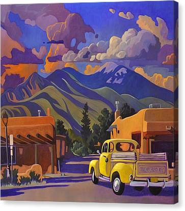Yellow Truck Square Canvas Print