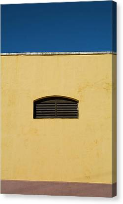Yellow Wall In Trinidad Canvas Print by Sami Sarkis